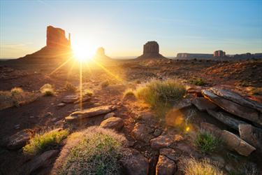 Monument Valley al sorgere del sole