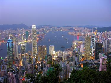 Vista panoramica Hong Kong