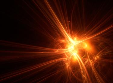 Fasce di luce tonalità arancio