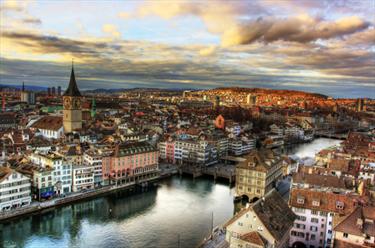 Panoramica di Zurigo