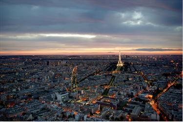 Parigi durante un temporale
