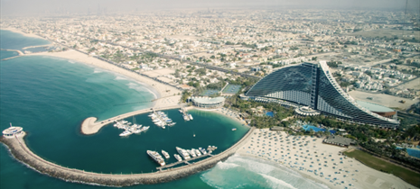 Vista aerea del Jumeirah Hotel