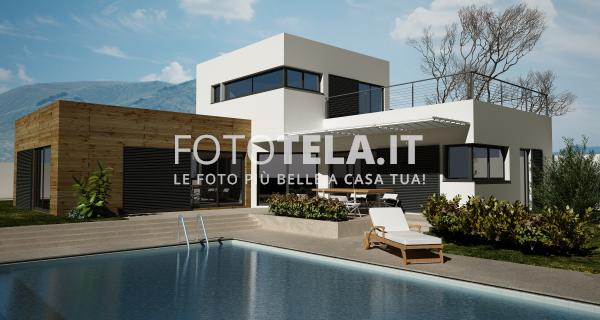 Casa moderna con piscina for Architettura casa moderna